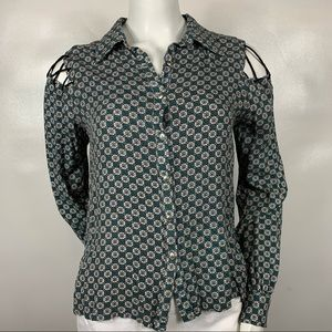 3For$20 Gilded Intent Button Down Blouse size s